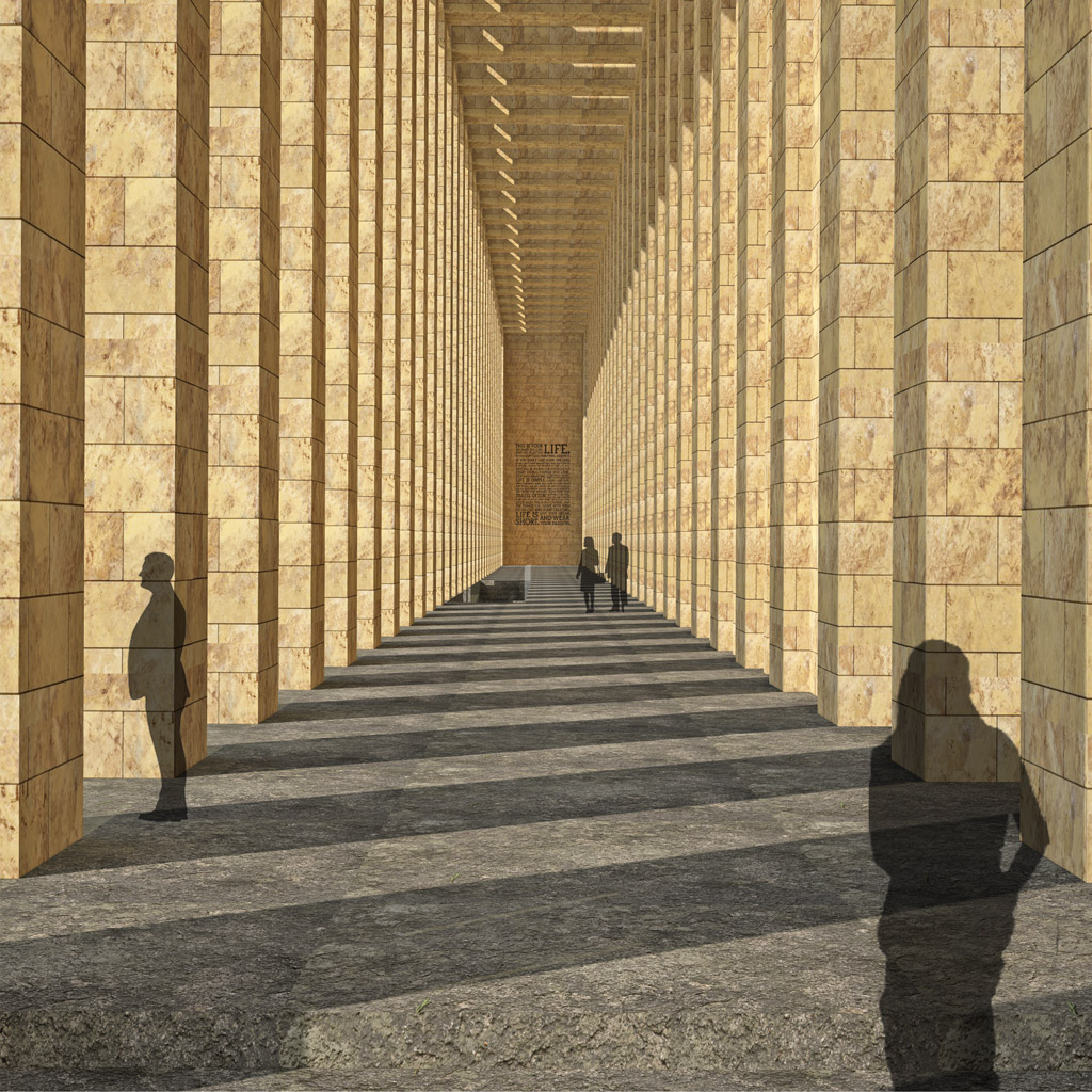 internal rendering of portico's entrance