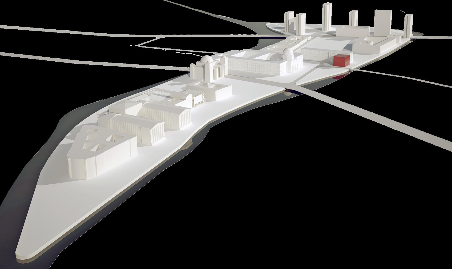 museuminsel panoramic render