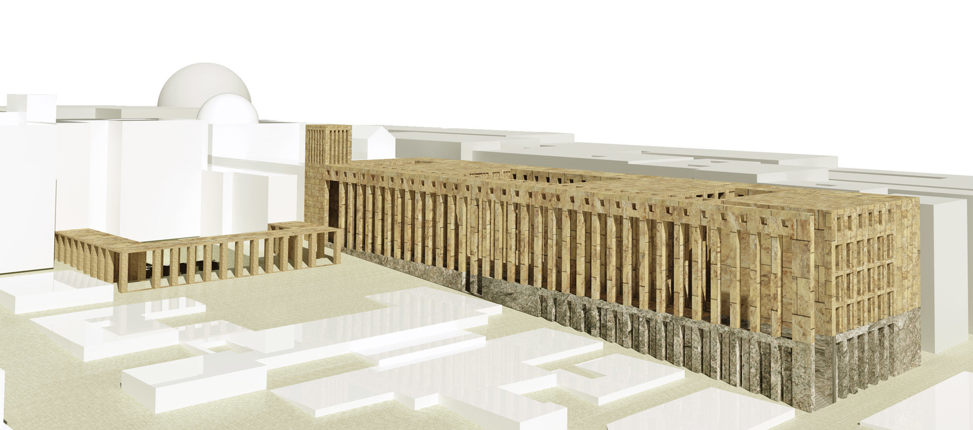 render of citadel of religions of naples