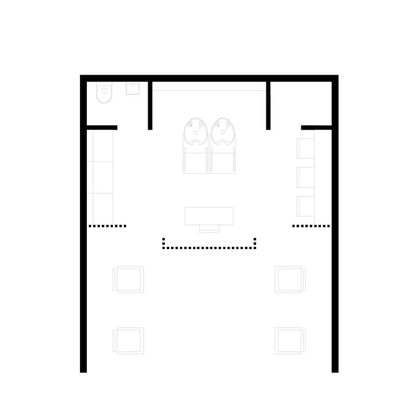 furnished plan of rusk hairdressing shop