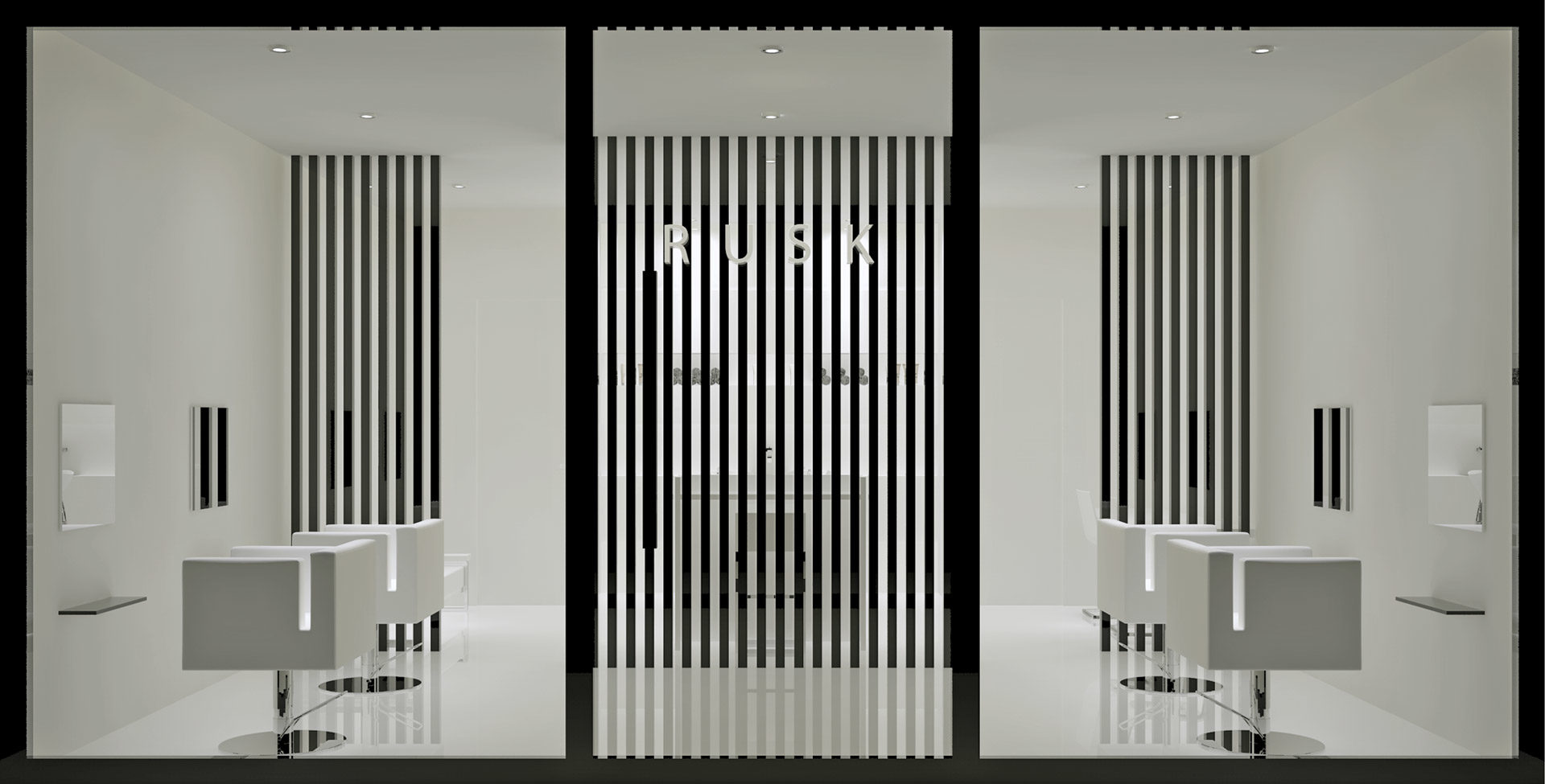 render of the rusk hairdressing shop window
